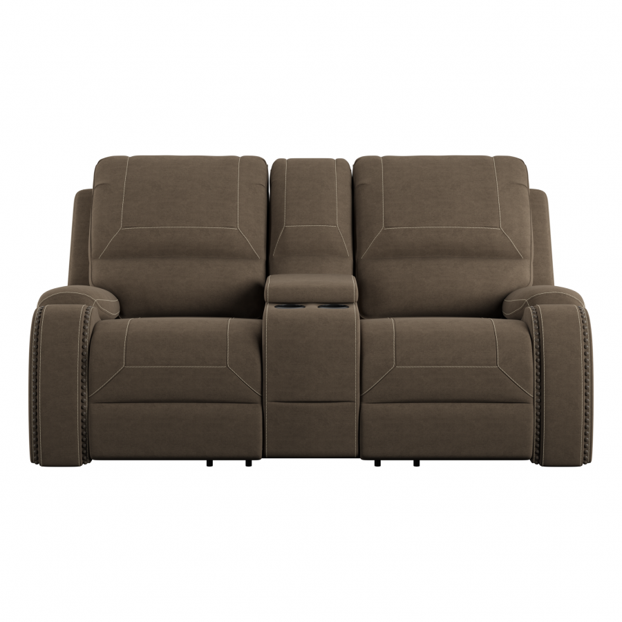 Adrian Reclining Loveseat with Console