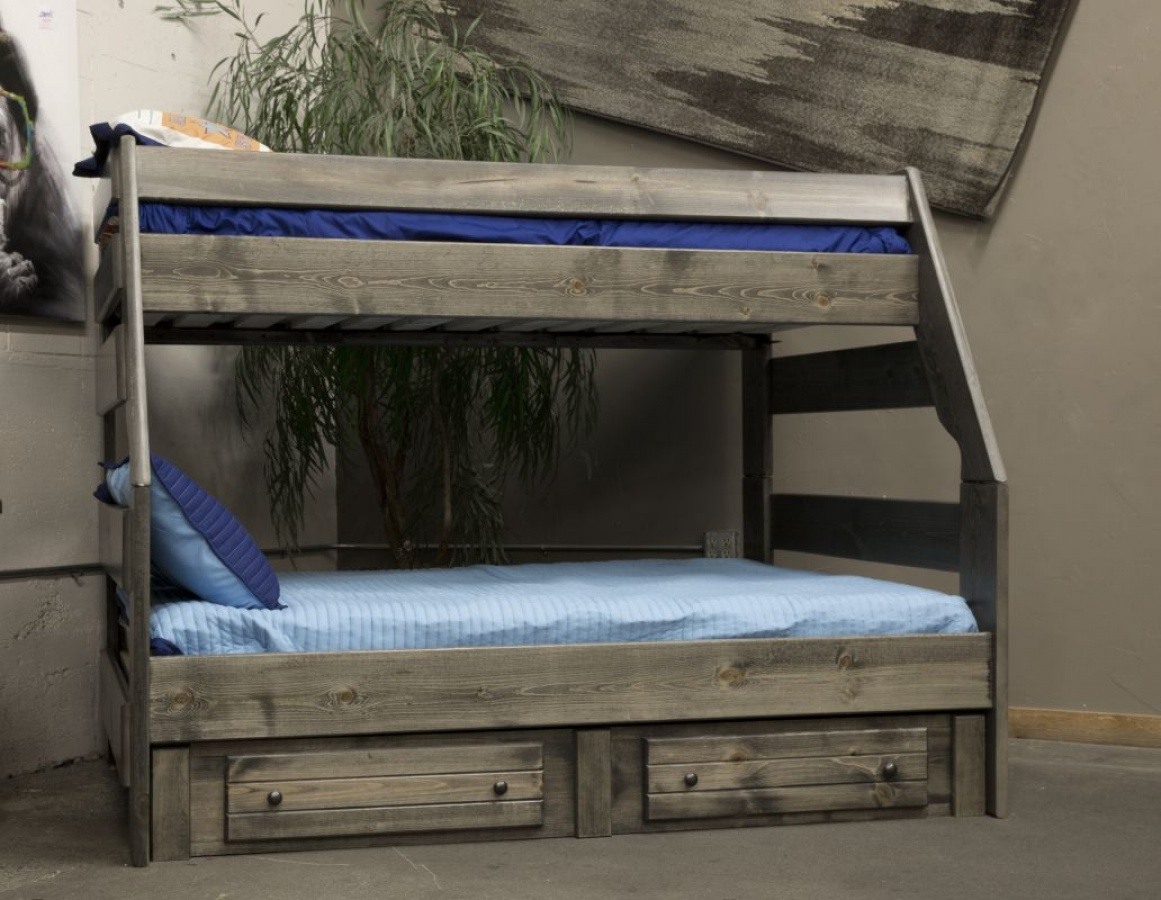 Bayview High Sierra Twin/Full Bunk Bed