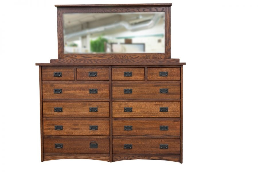 12 Drawer Mule Chest & Mirror