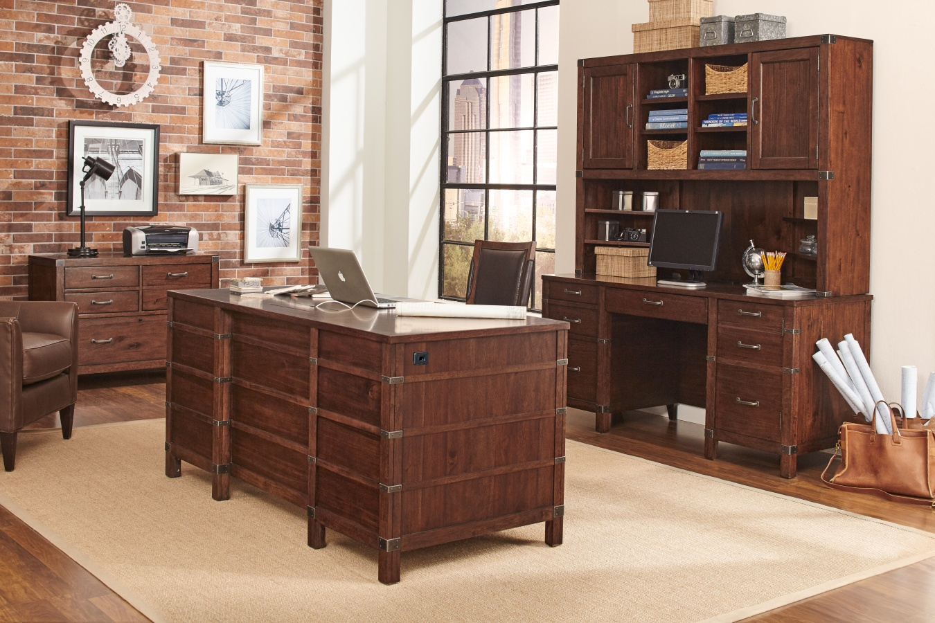 "Canfield 66"" Exec Desk"